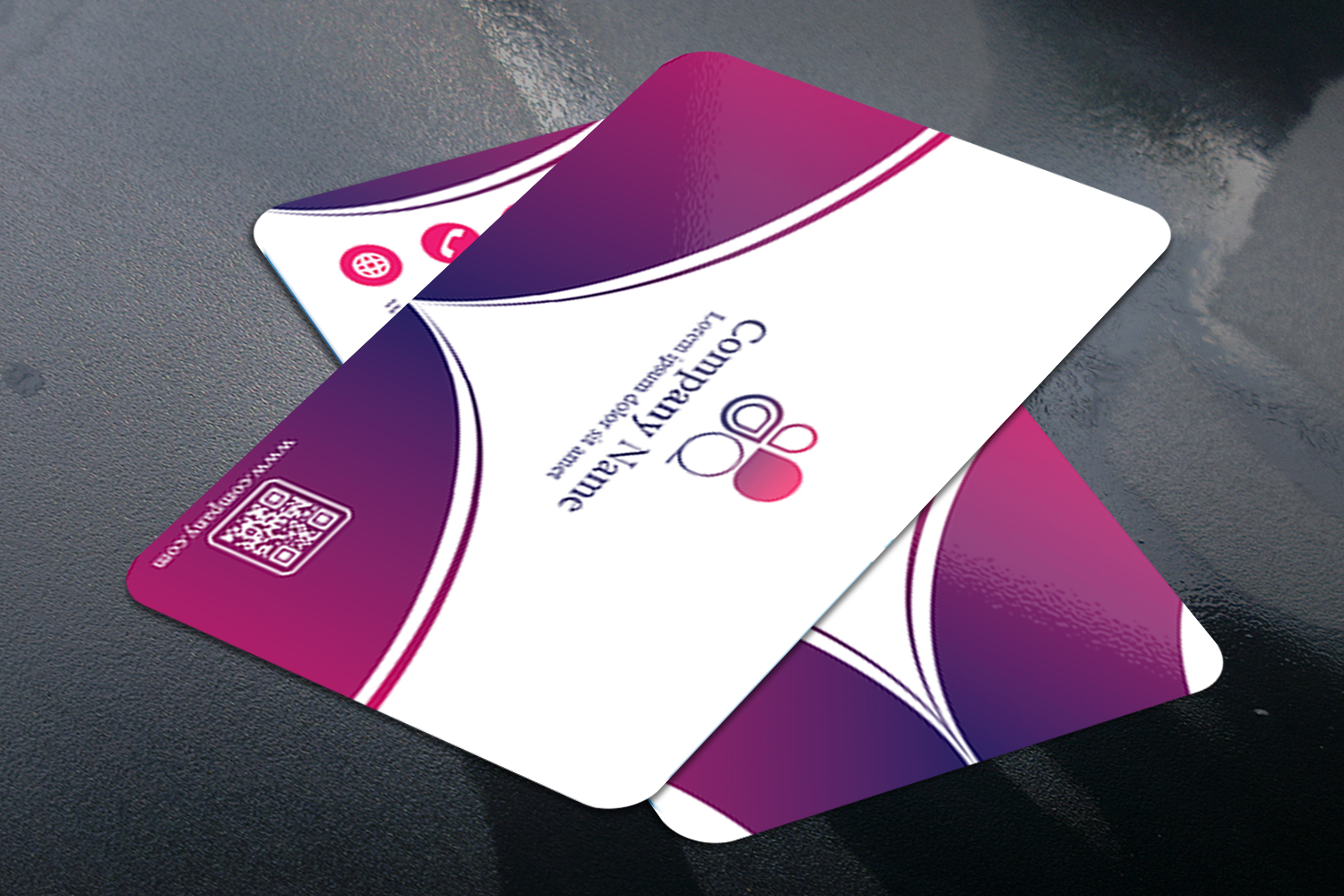 Abstract Business Card Design with 2 different colors example image 3