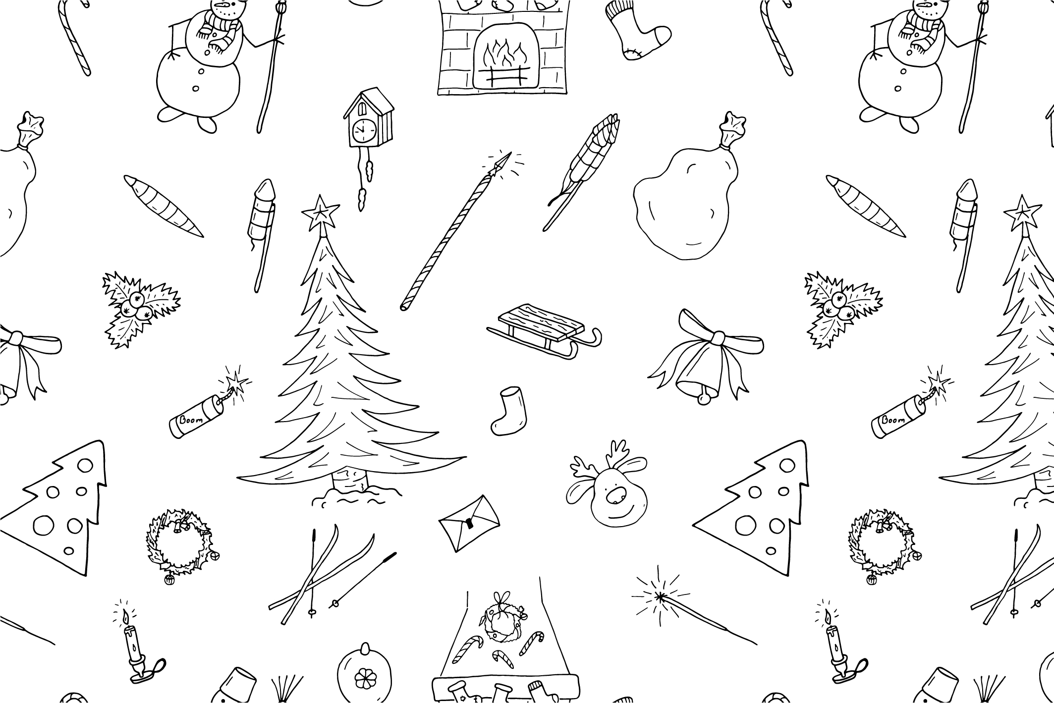 Christmas seamless patterns. example image 10