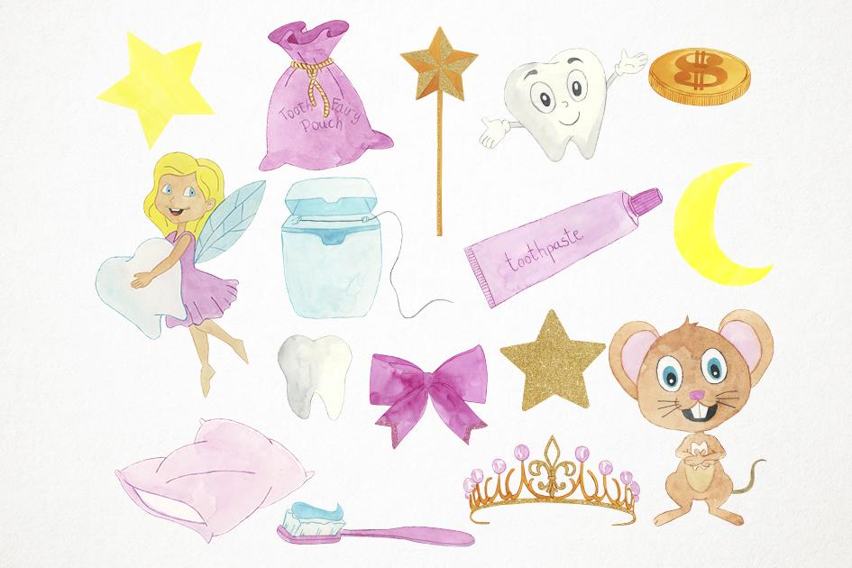 Tooth Fairy Clipart, Teeth Clipart, Tooth Fairy Clip Art example image 2