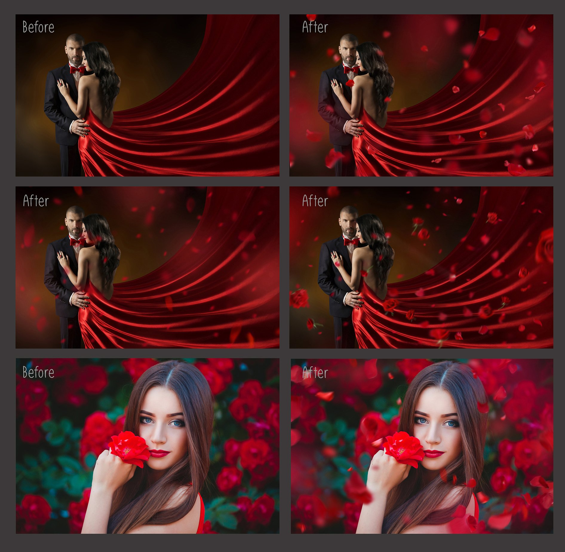 Falling Rose Petals Photo Overlays example image 5