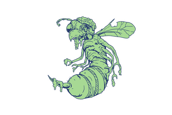Zombie Bee Cartoon example image 1