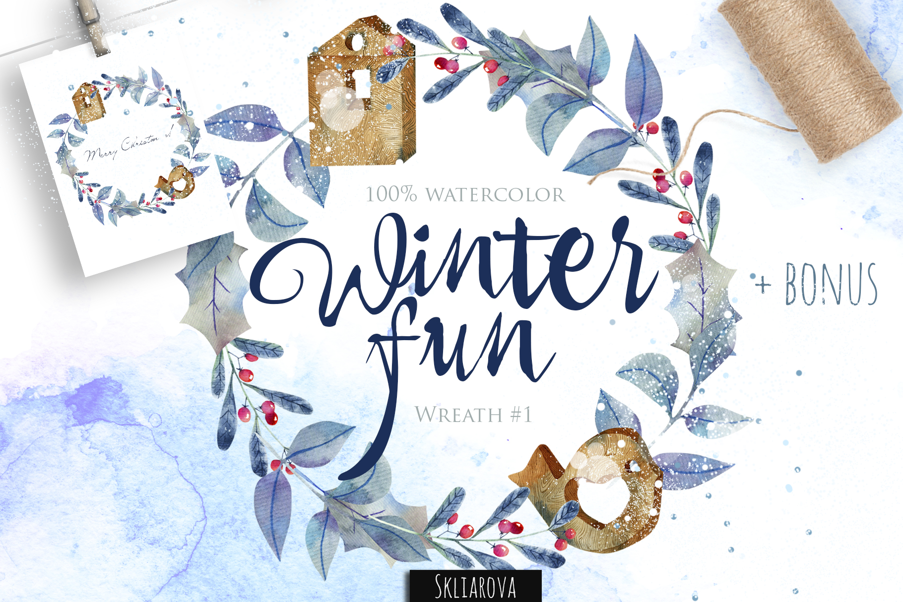 Winter fun. Wreath #1 example image 1