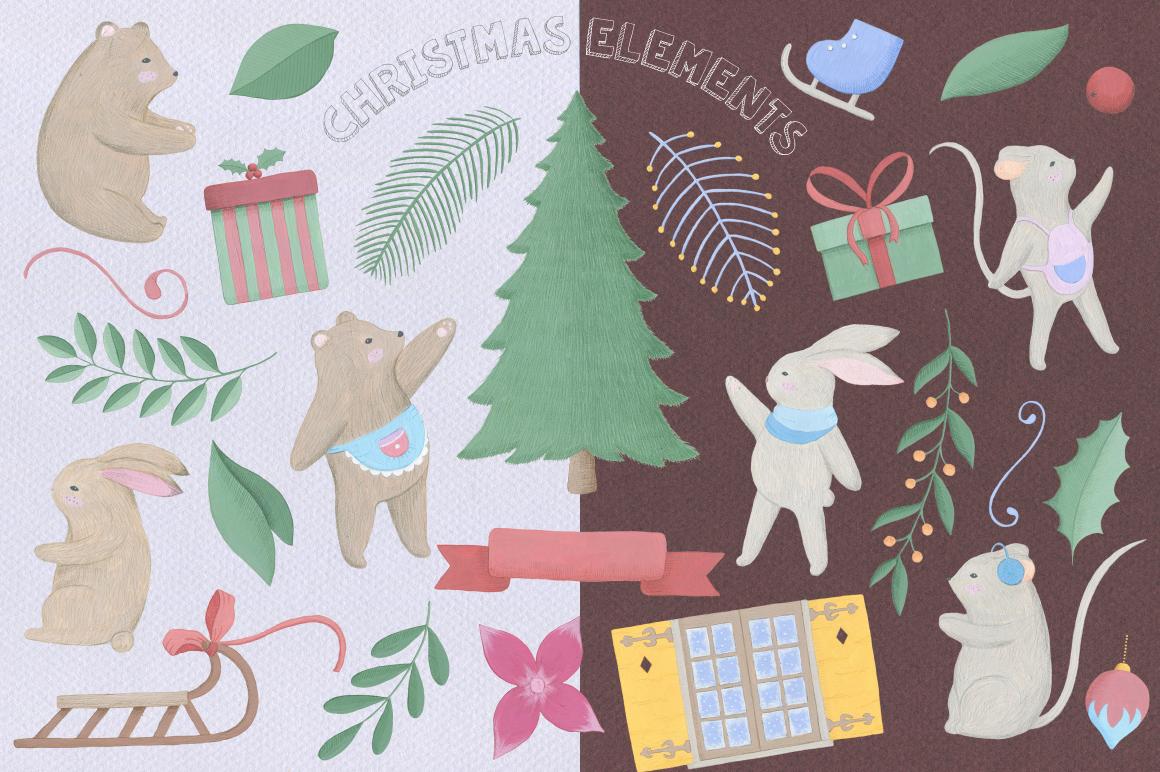 Christmas Gouache Collection example image 3
