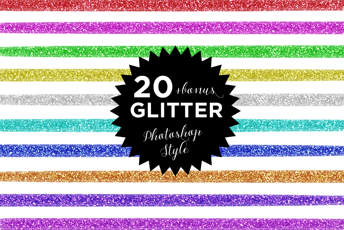 20 Glitter Photoshop style example image 1