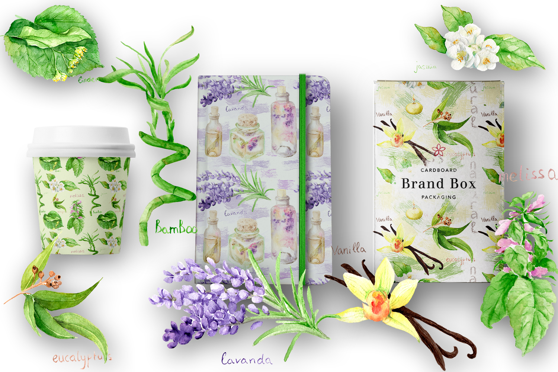 Watercolor set Natural cosmetics example image 5