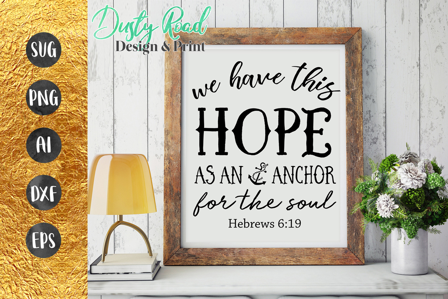 SVG & PNG - HOPE as an anchor for the soul - christian example image 1