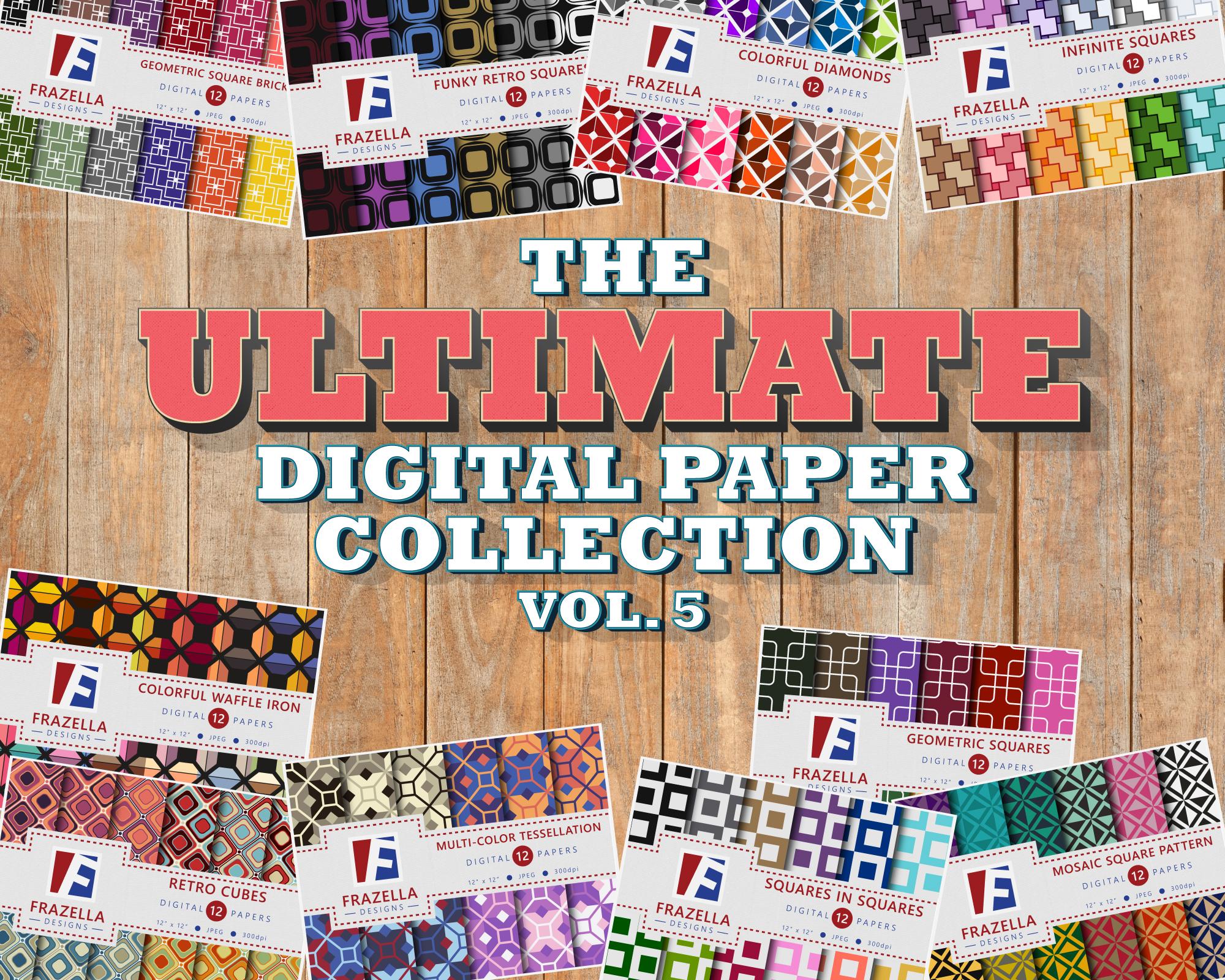 The ULTIMATE Digital Paper Bundle Vol 5 example image 1