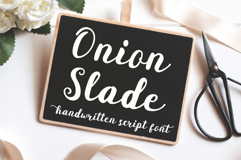 Onion Slade Script example image 1