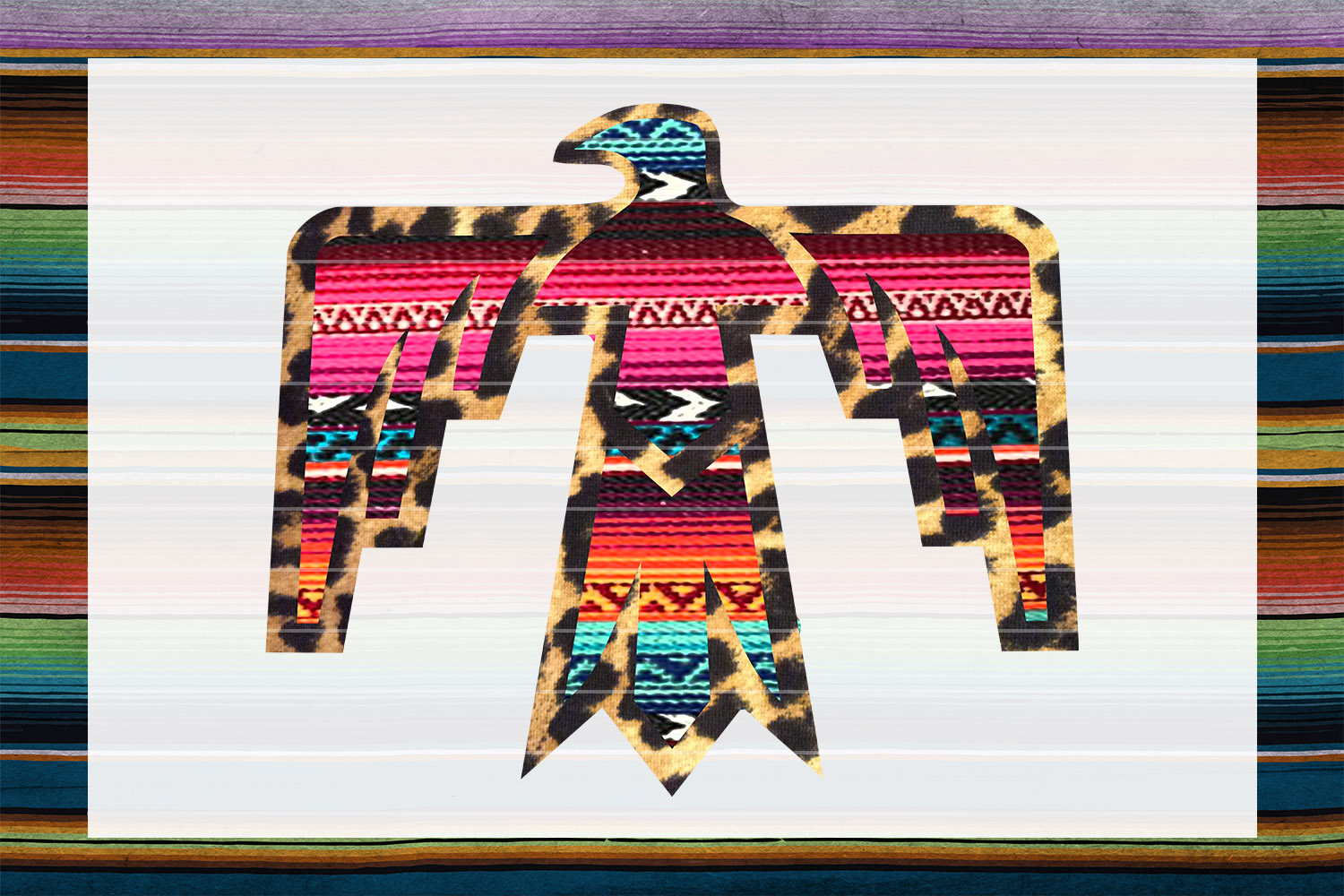 Serape & Leopard Thunderbird Sublimation Digital Download example image 1