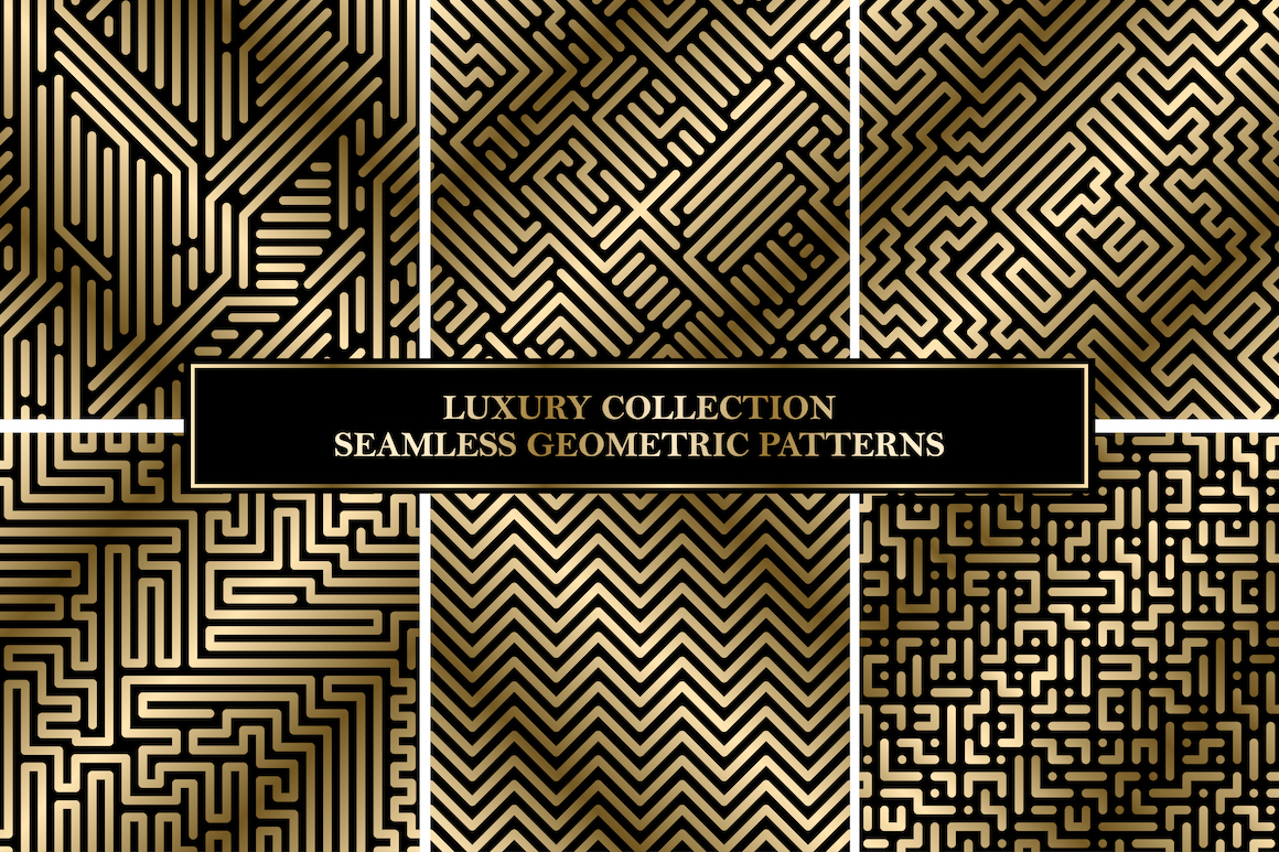 Luxury seamless striped patterns example image 1