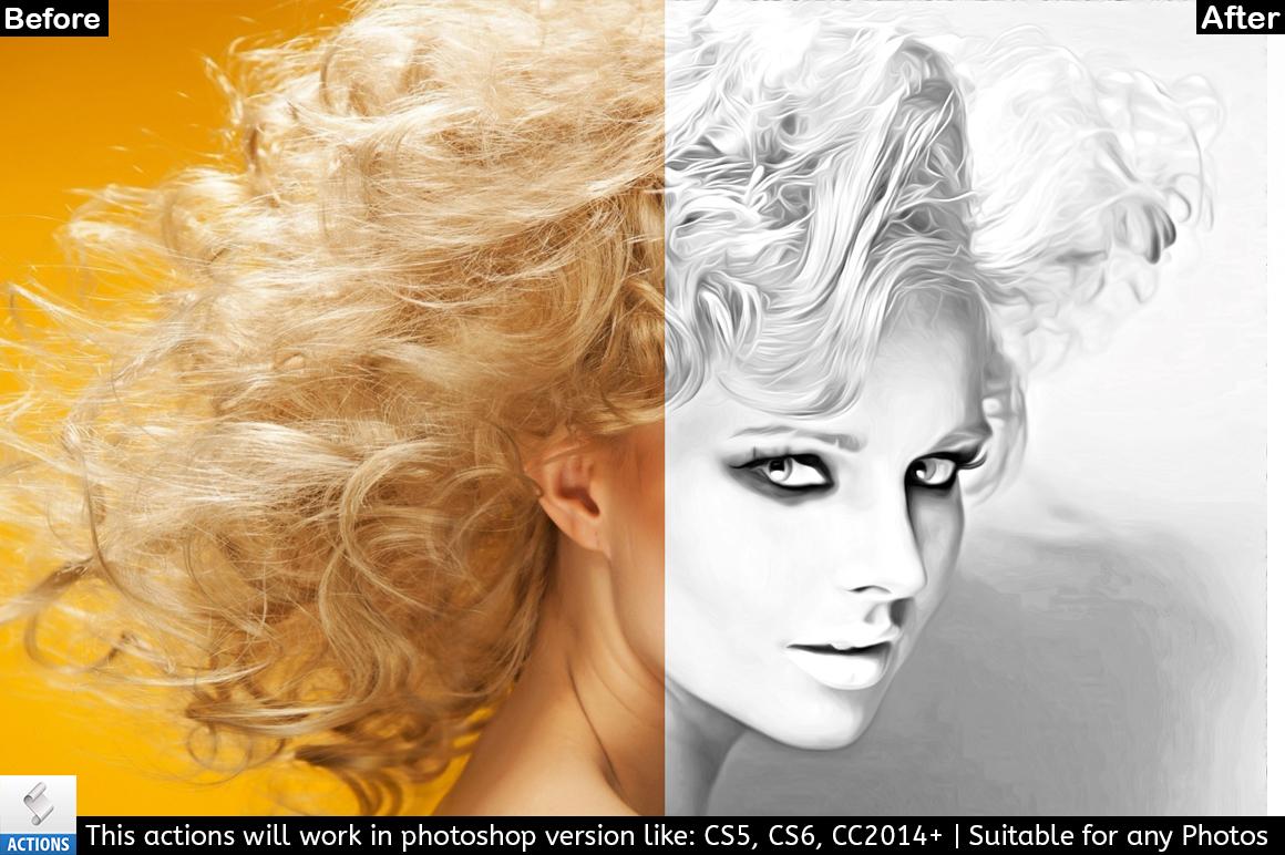 Black & White Photo Painting Effect example image 2