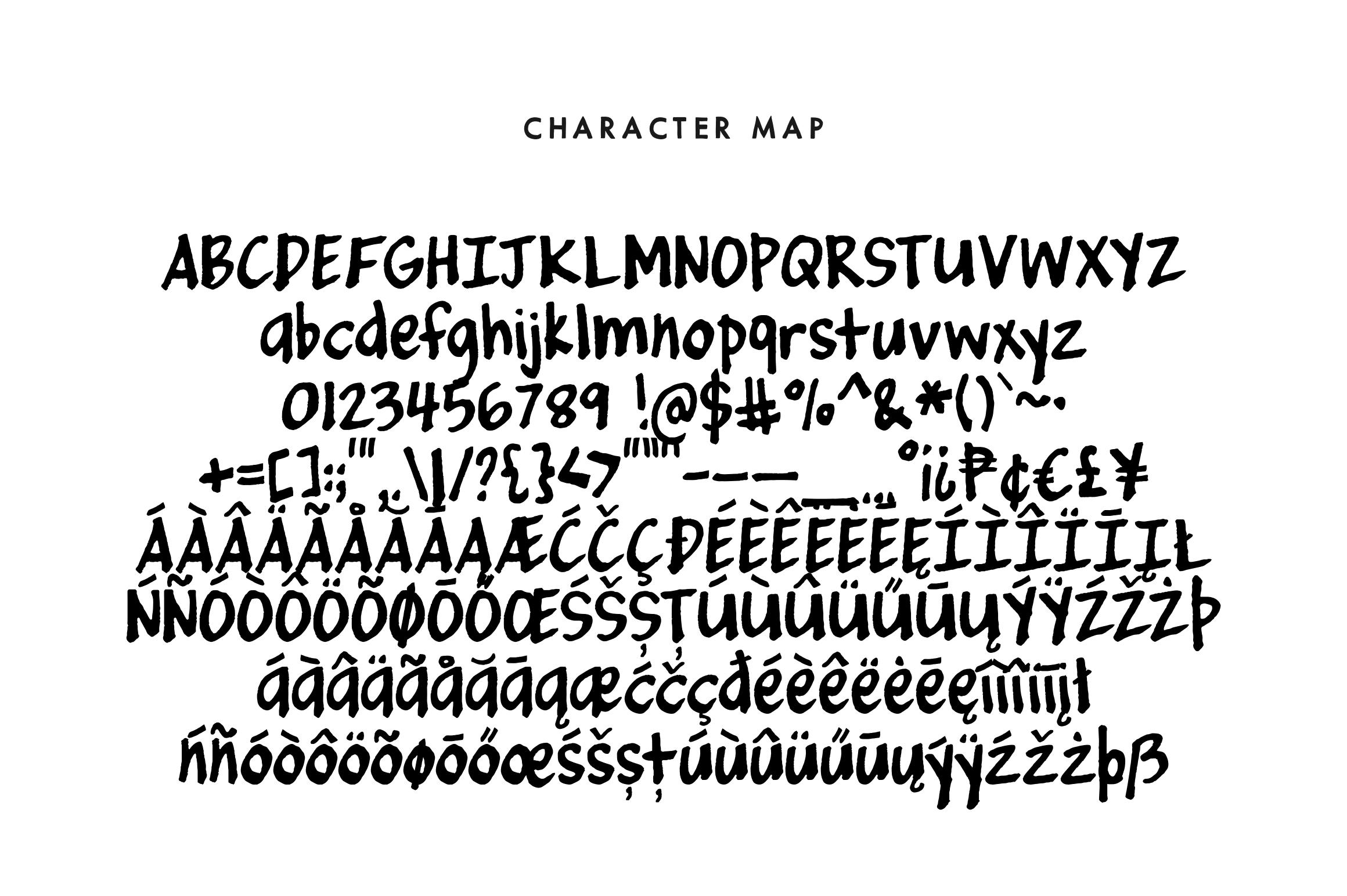 Marker - a basic handwritten marker doodle font example image 3
