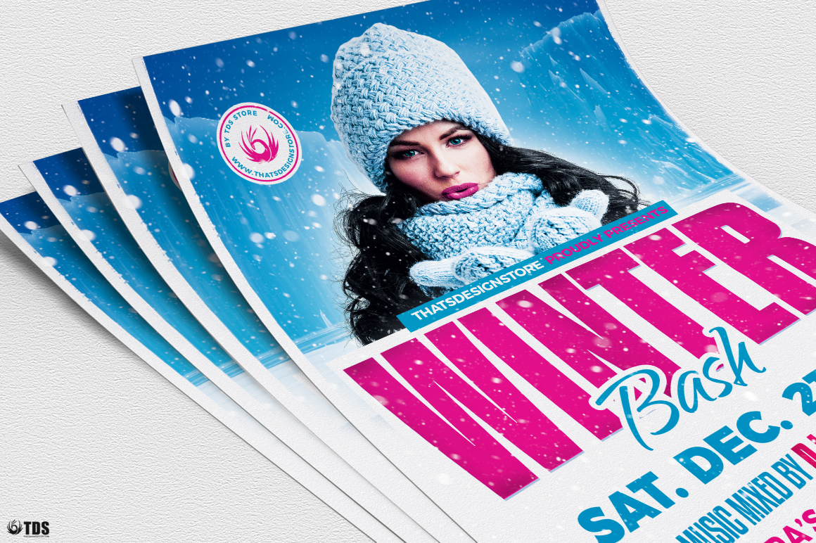 Winter Bash Flyer Template V4 example image 5