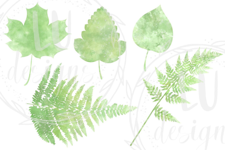 Watercolor Greenery example image 4