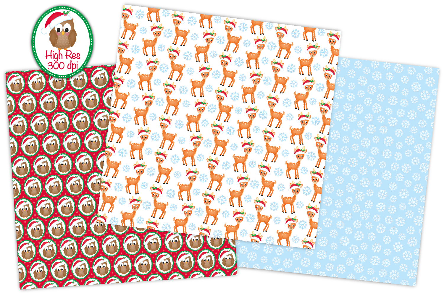 Christmas digital papers, Christmas patterns example image 3