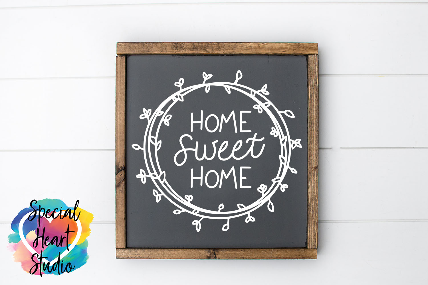 Hand lettered Home Sweet Home SVG - Home decor, sign, pillow example image 1