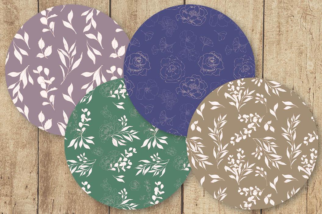 Blush foliage clip art bundle example image 7