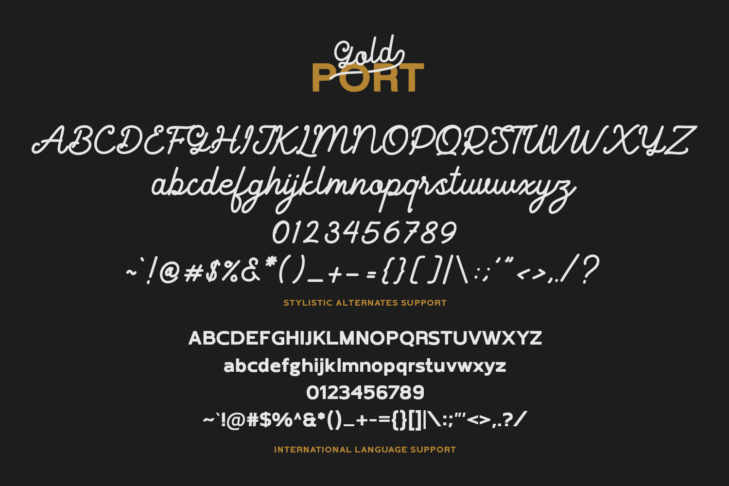 Gold Port - Font Duo with Sans example image 6