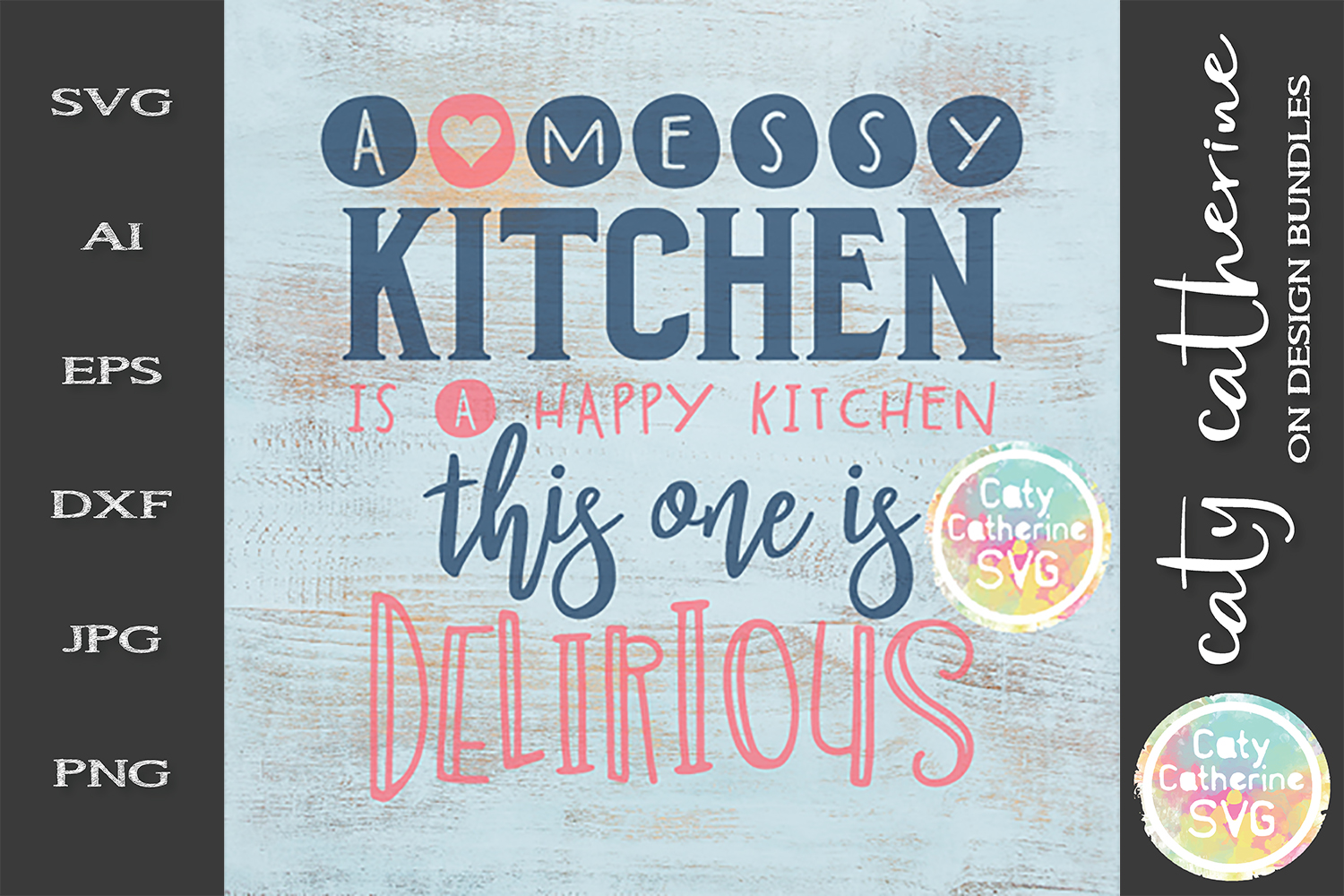 A Merry Kitchen Is A Happy Kitchen This One Is Delirious SVG example image 1