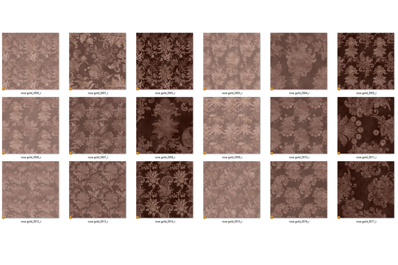 Rose Gold Floral Digital Paper example image 4