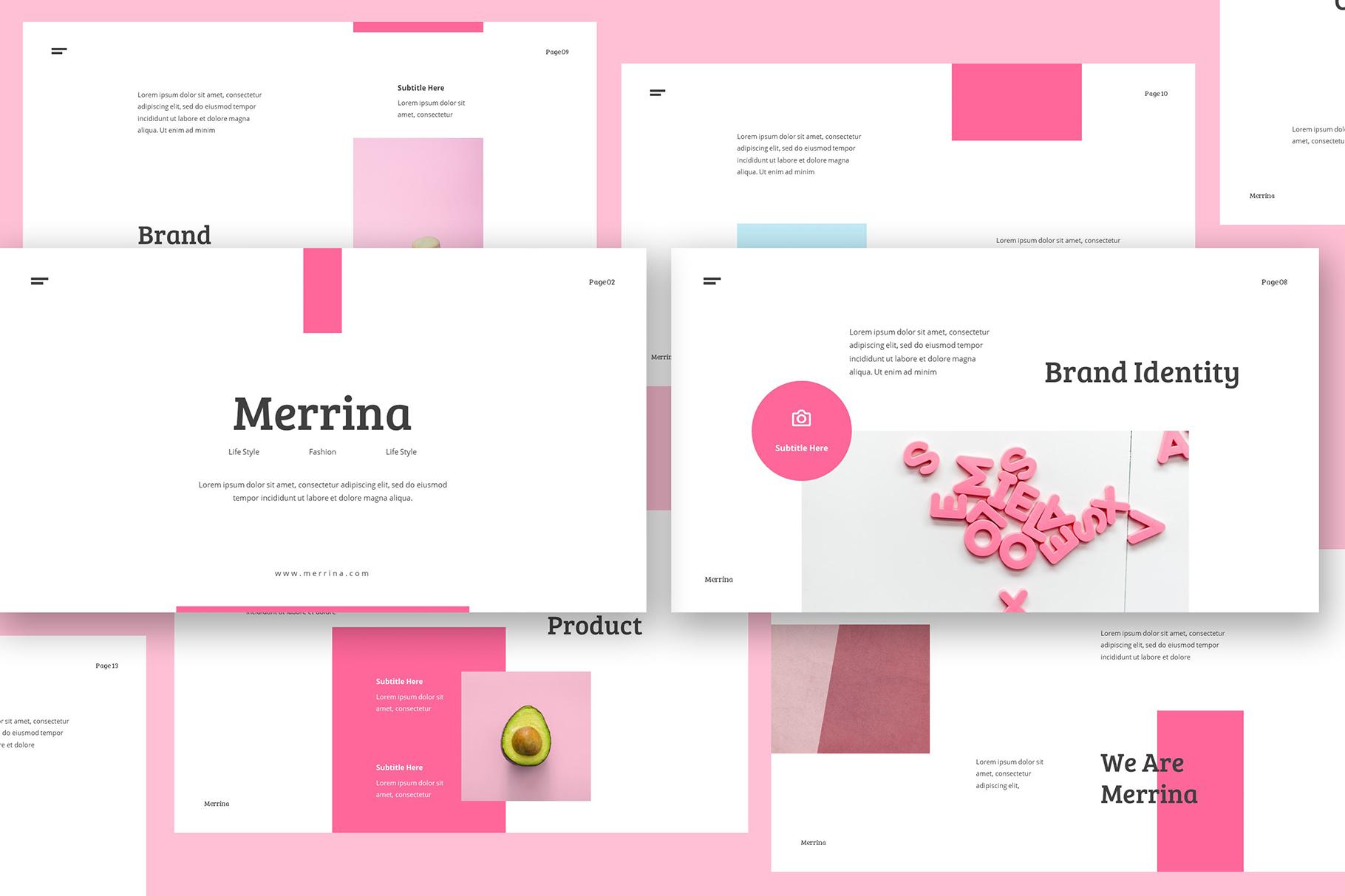 Merrina Brand Guideline Google Slide example image 3