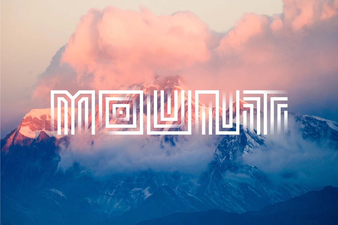 Maze Line Typeface example image 2