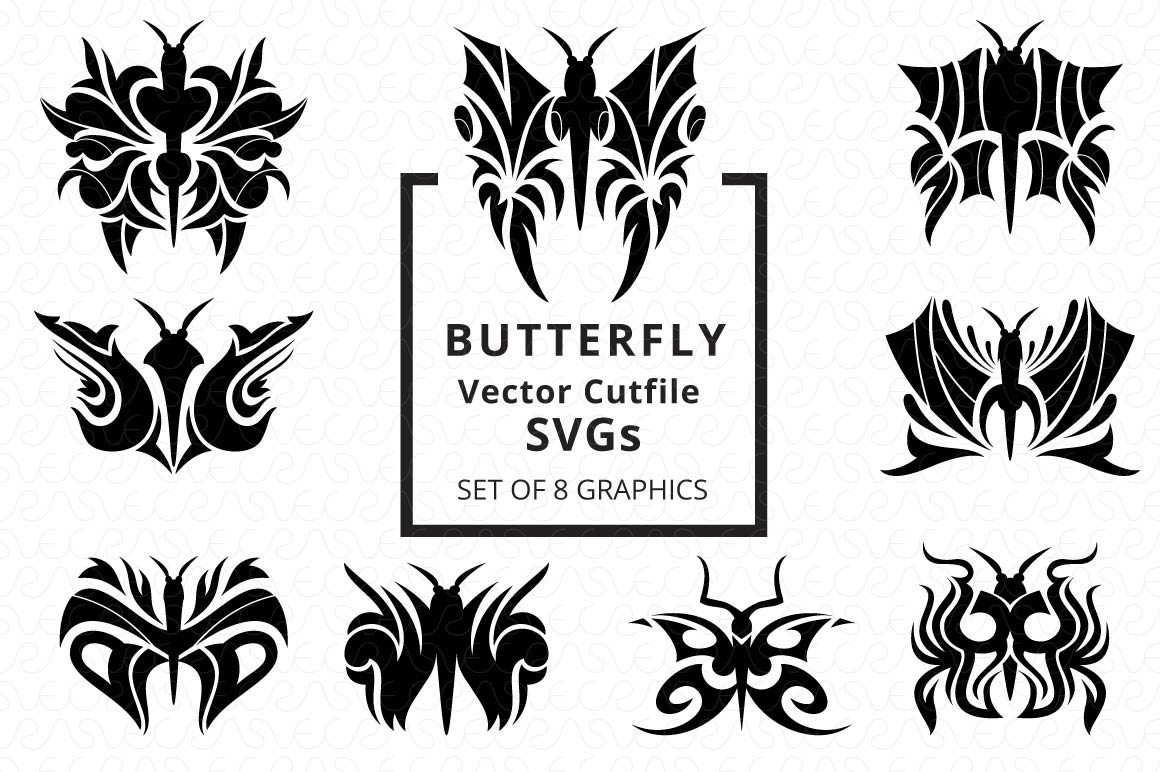 SVG Cutfiles Bundle-1 with 200 Unique Shapes example image 17