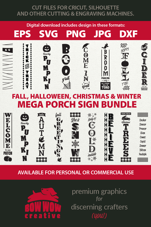 Fall Halloween Winter Christmas Mega bundle - SVG & more example image 6