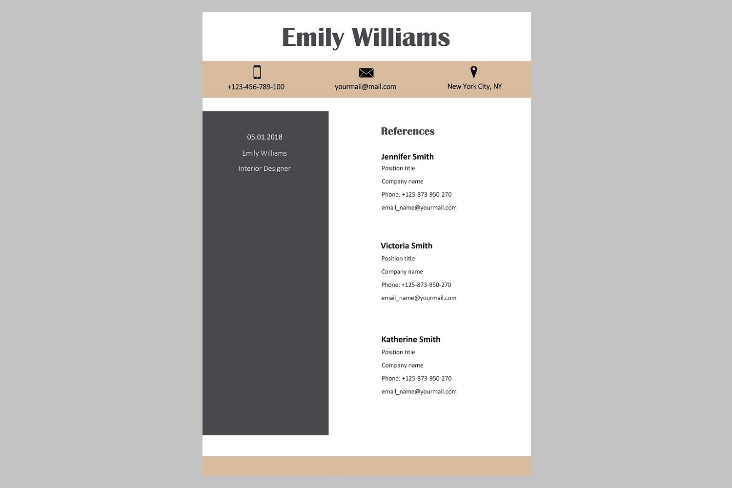 Creative resume template / CV. Bundle offer example image 13