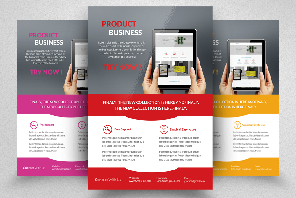 6 Products Promotion Flyers Bundles example image 2