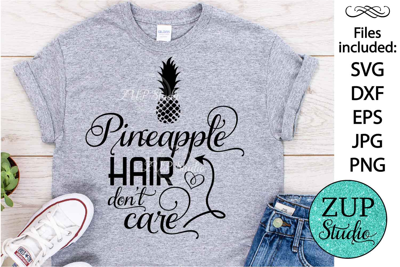 Pineapple hair Digital Cutting files file 156 example image 1