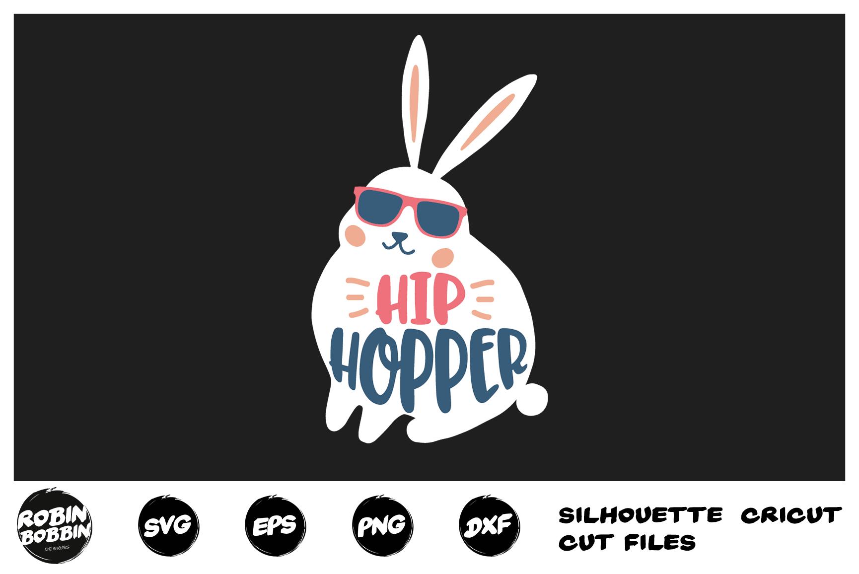 Easter svg, Hip Hopper Easter Bunny svg, Baby Easter svg example image 1