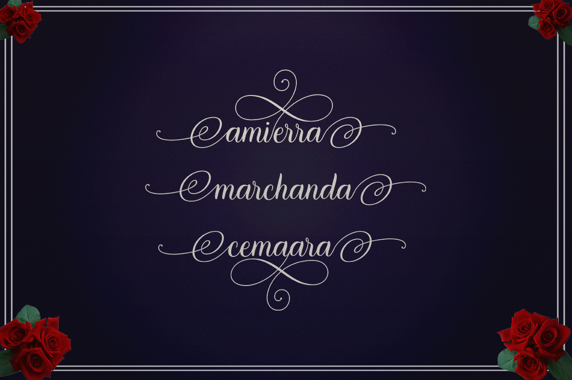 Marchanda Script example image 9