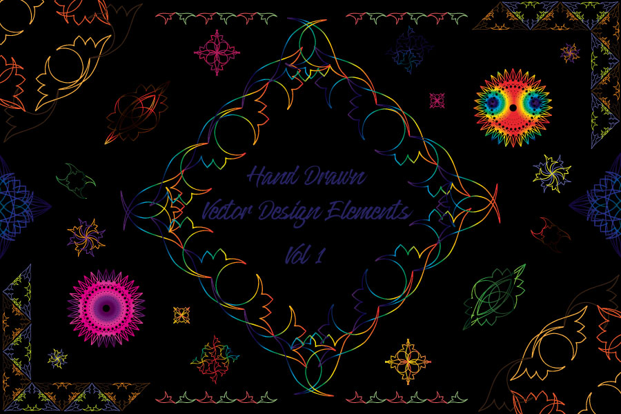 Hand Drawn Vector Design Elements_Volume 1 example image 4