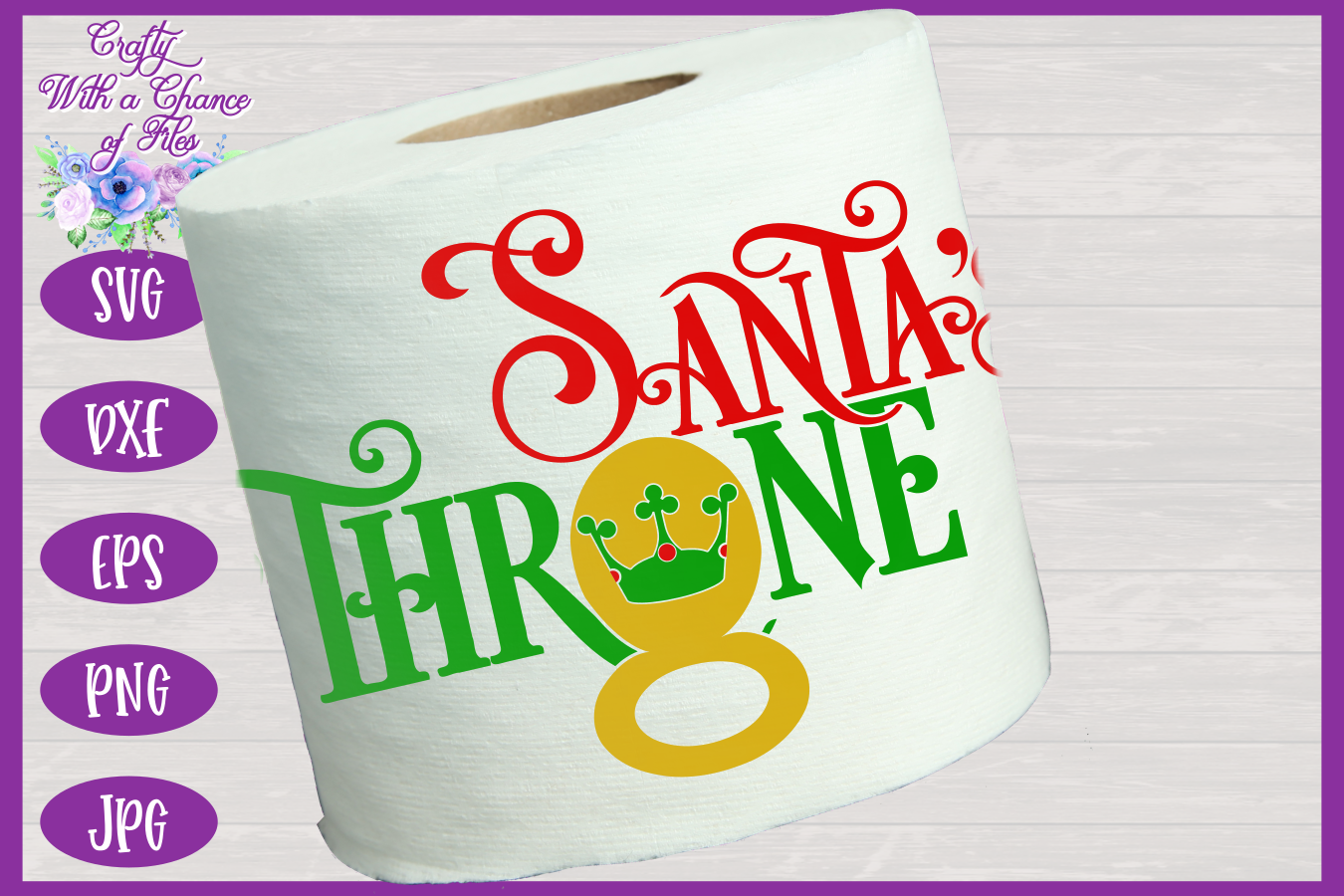 Christmas Toilet Paper SVG - Funny Gag Gift Design example image 2