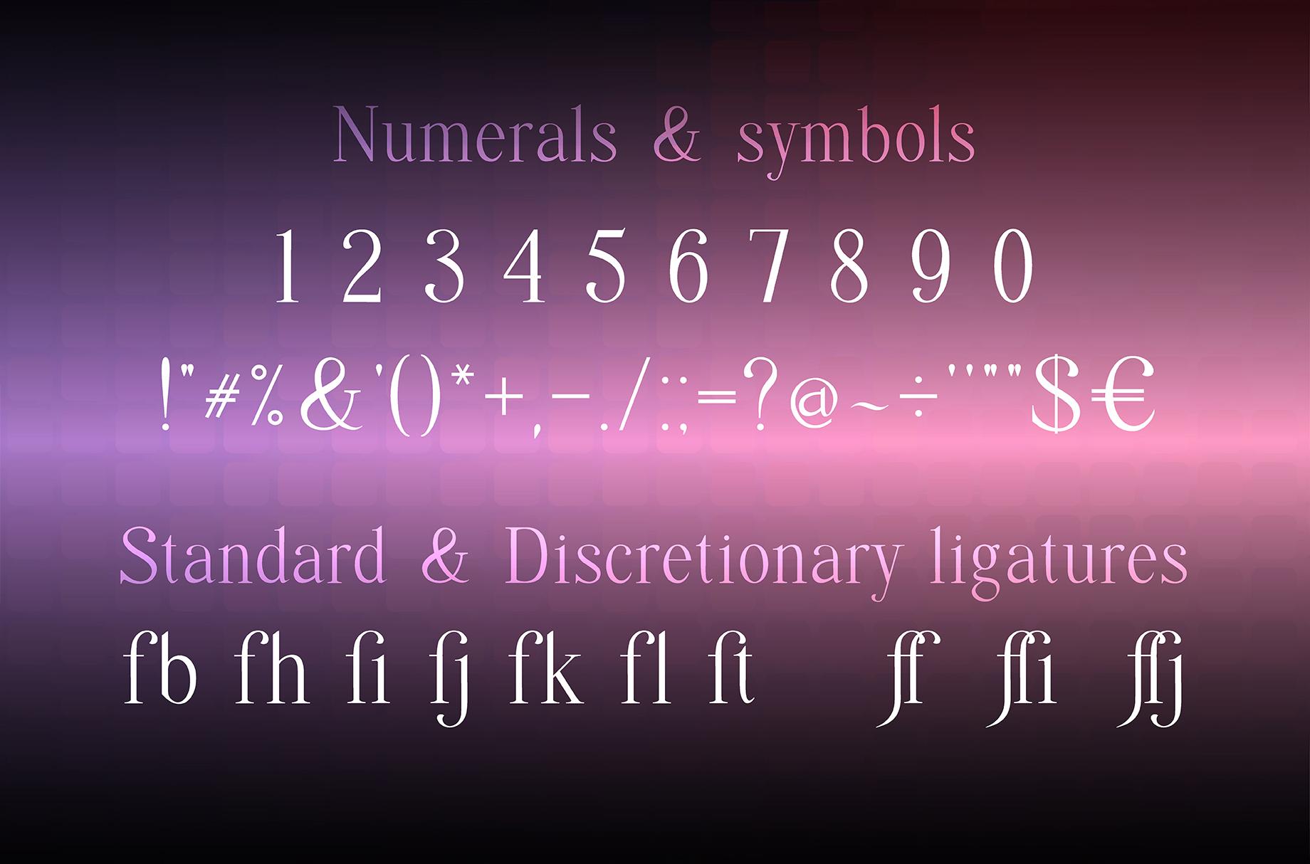 Quffer, serif regular font example image 3