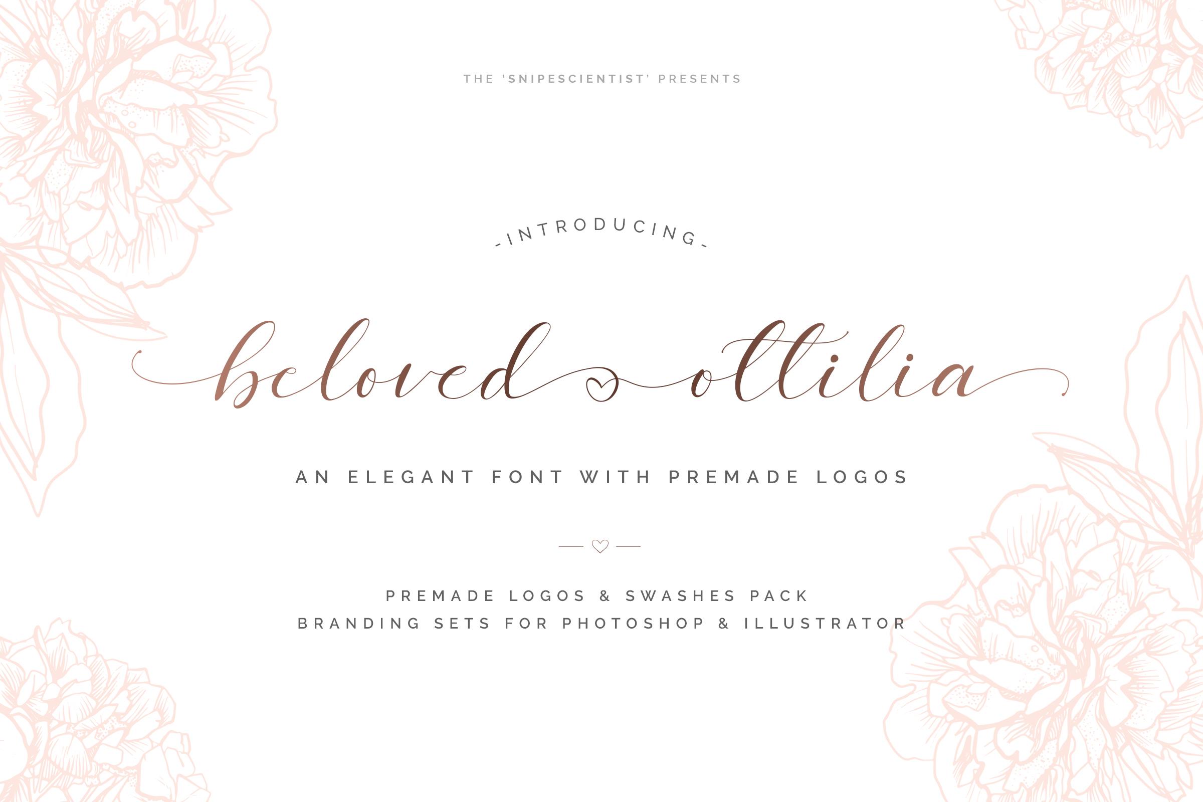 Beloved Ottilia Font 60 Free Logos example image 2
