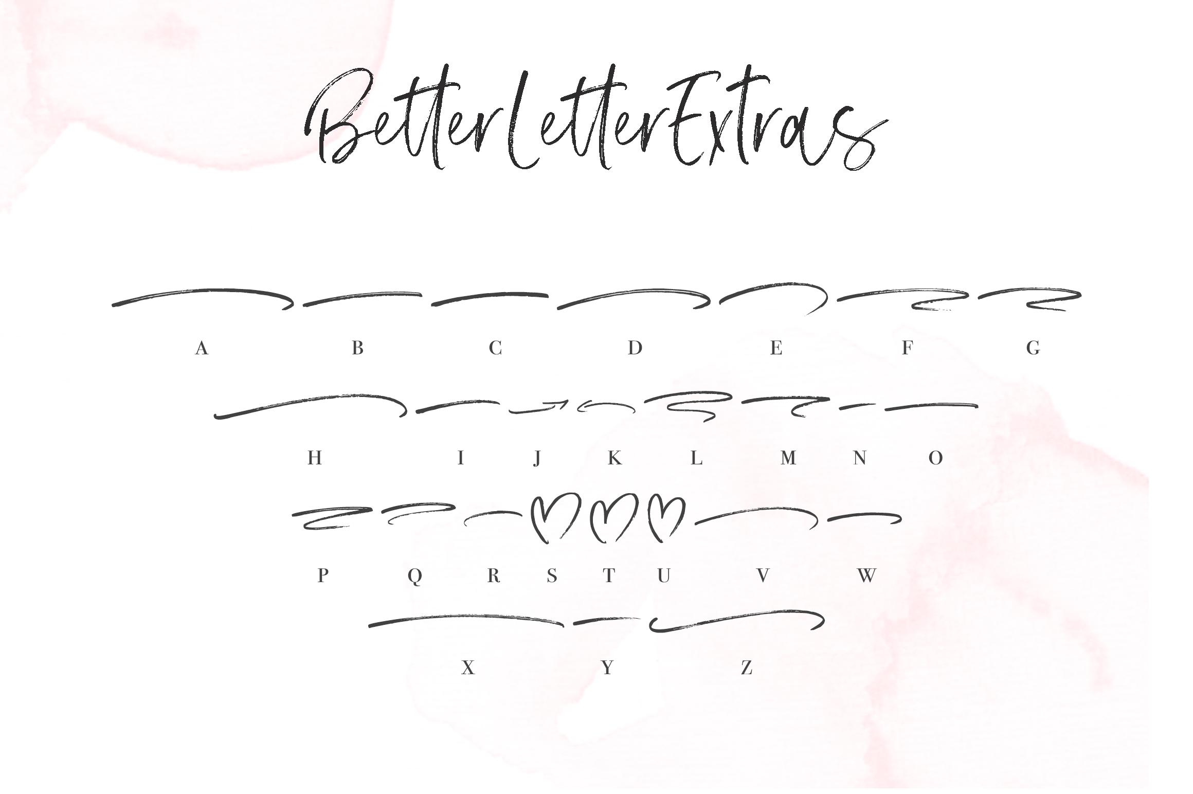 Better Letter Font example image 11
