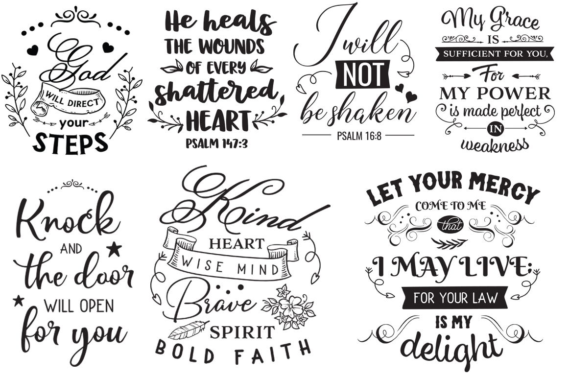 The Religious Pack - 50 Cutting Files SVG DXF EPS PNG example image 4