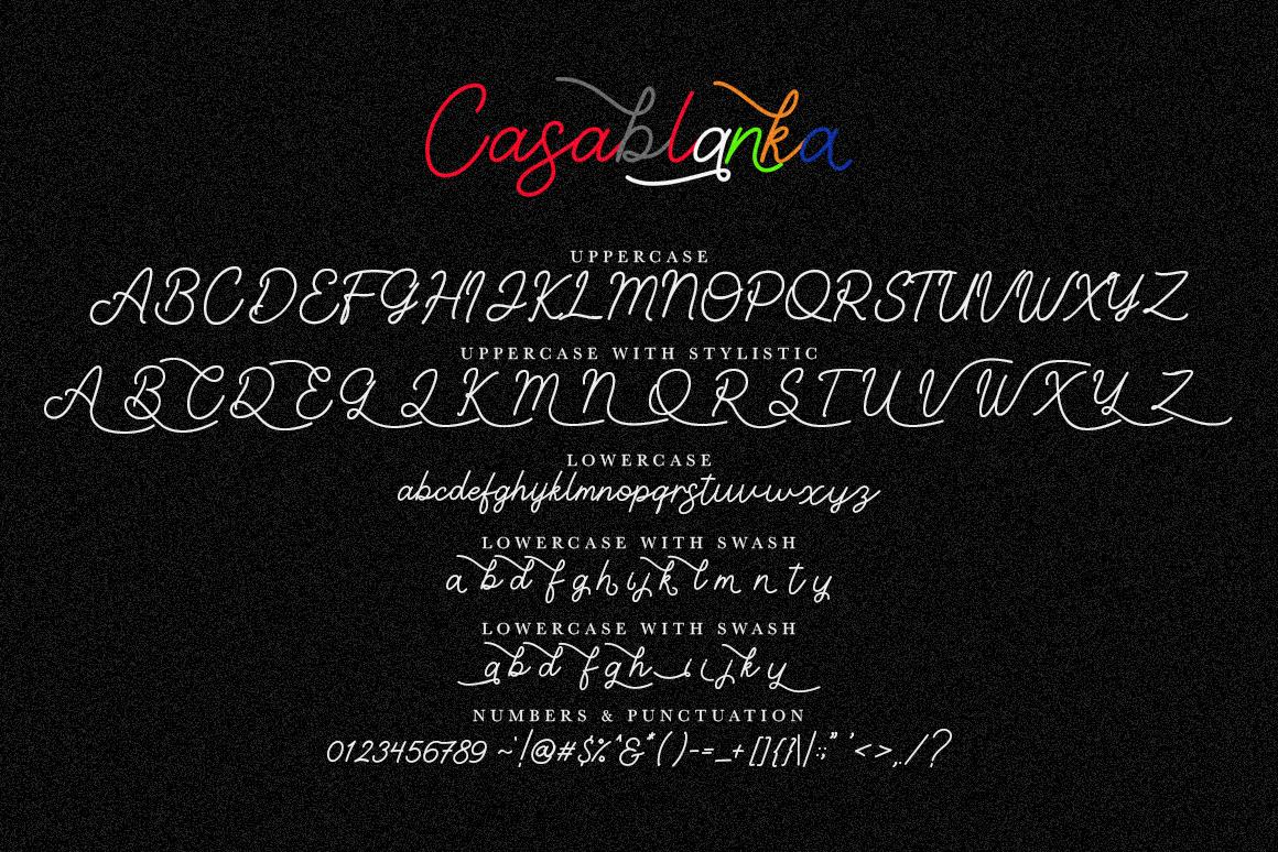 Casablanka Script example image 6