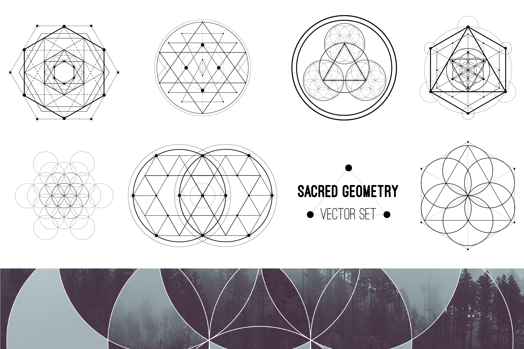 Sacred geometry unity of nature