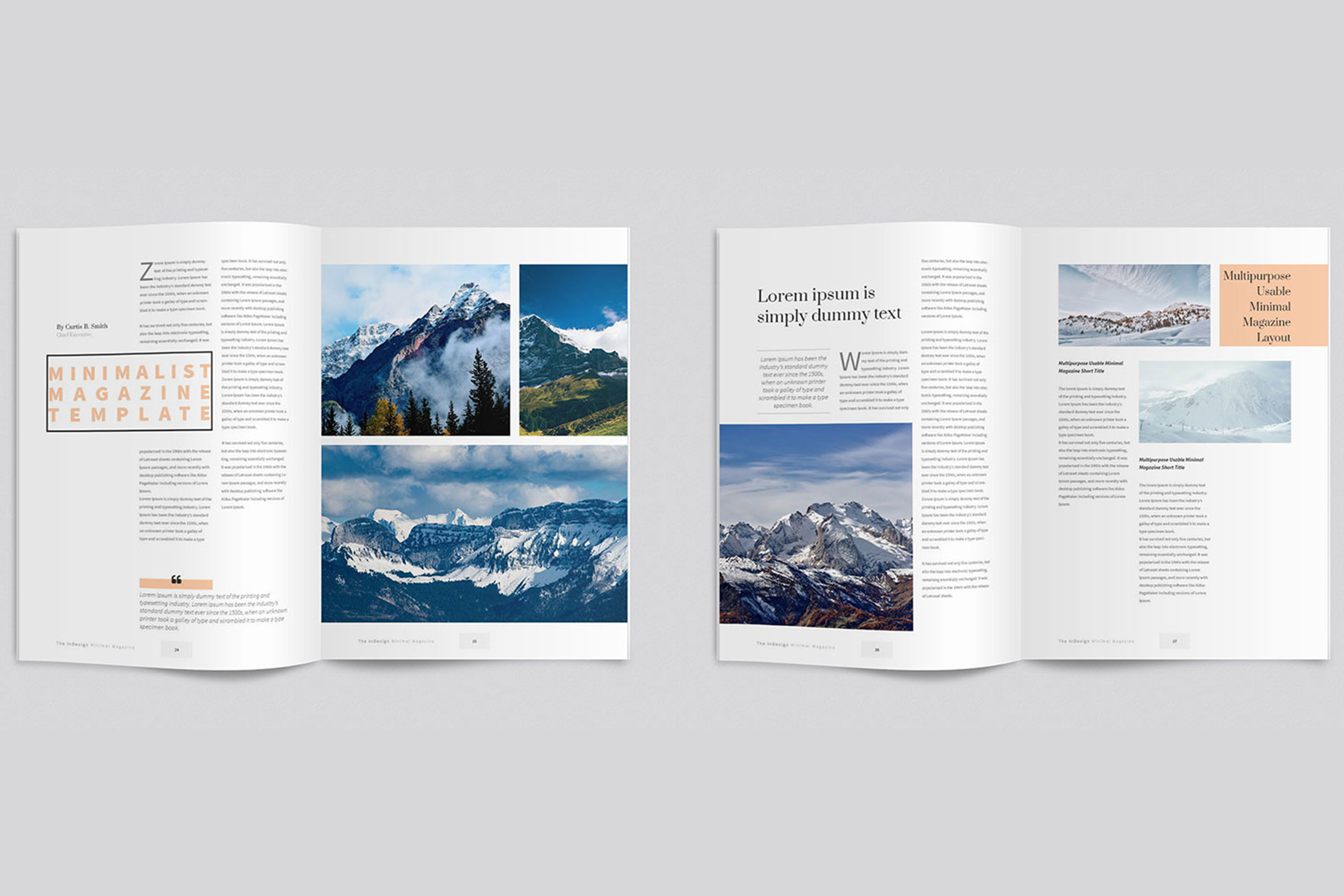 Modern InDesign Magazine Template example image 5