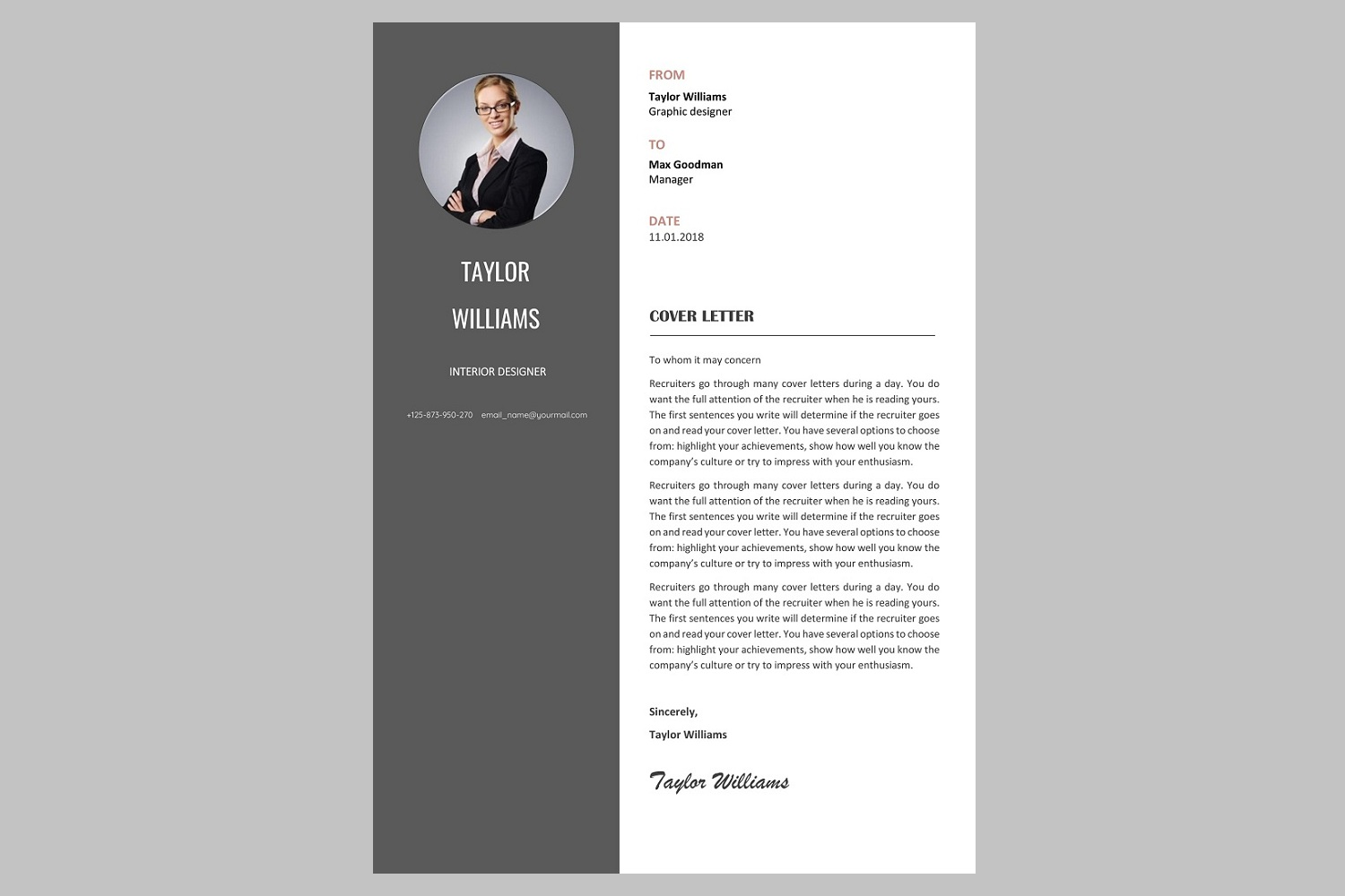 Creative resume template / CV example image 3