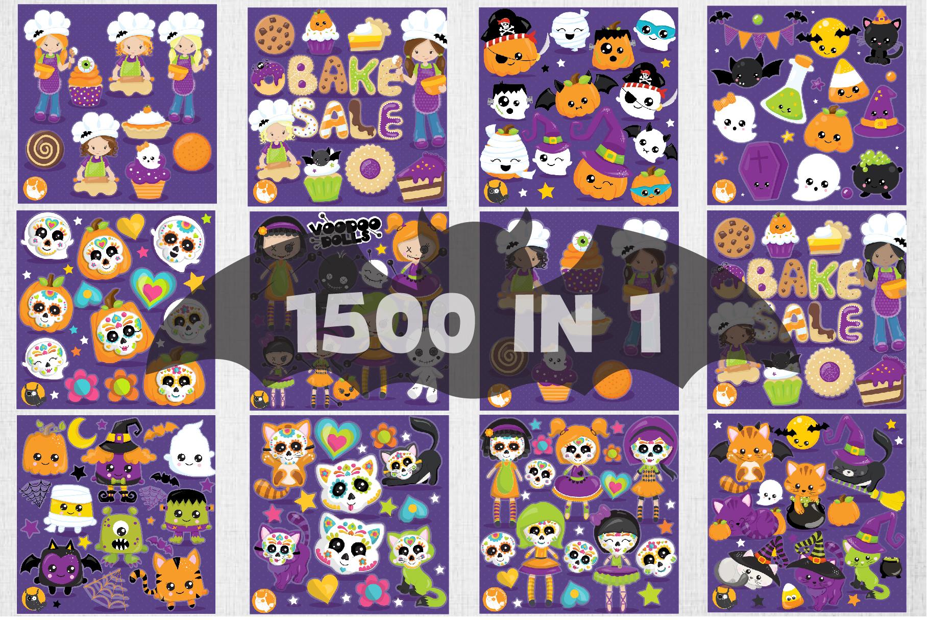 1500 Graphics - MEGA Halloween Bundle - 98OFF example image 3