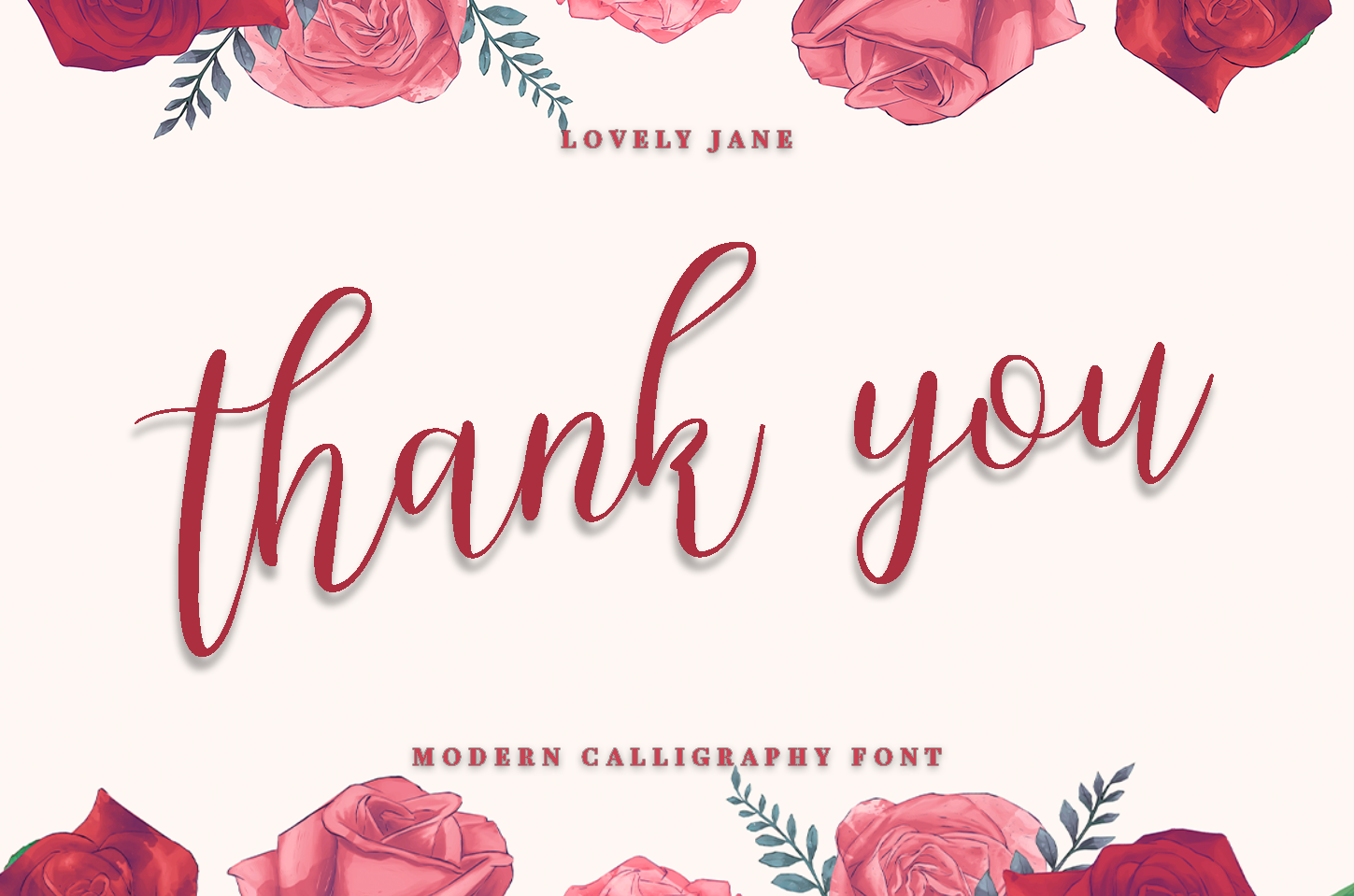 lovely Jane - Modern calligraphy font example image 6