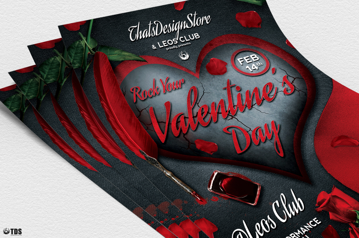 Rock Your Valentine Flyer Template example image 5