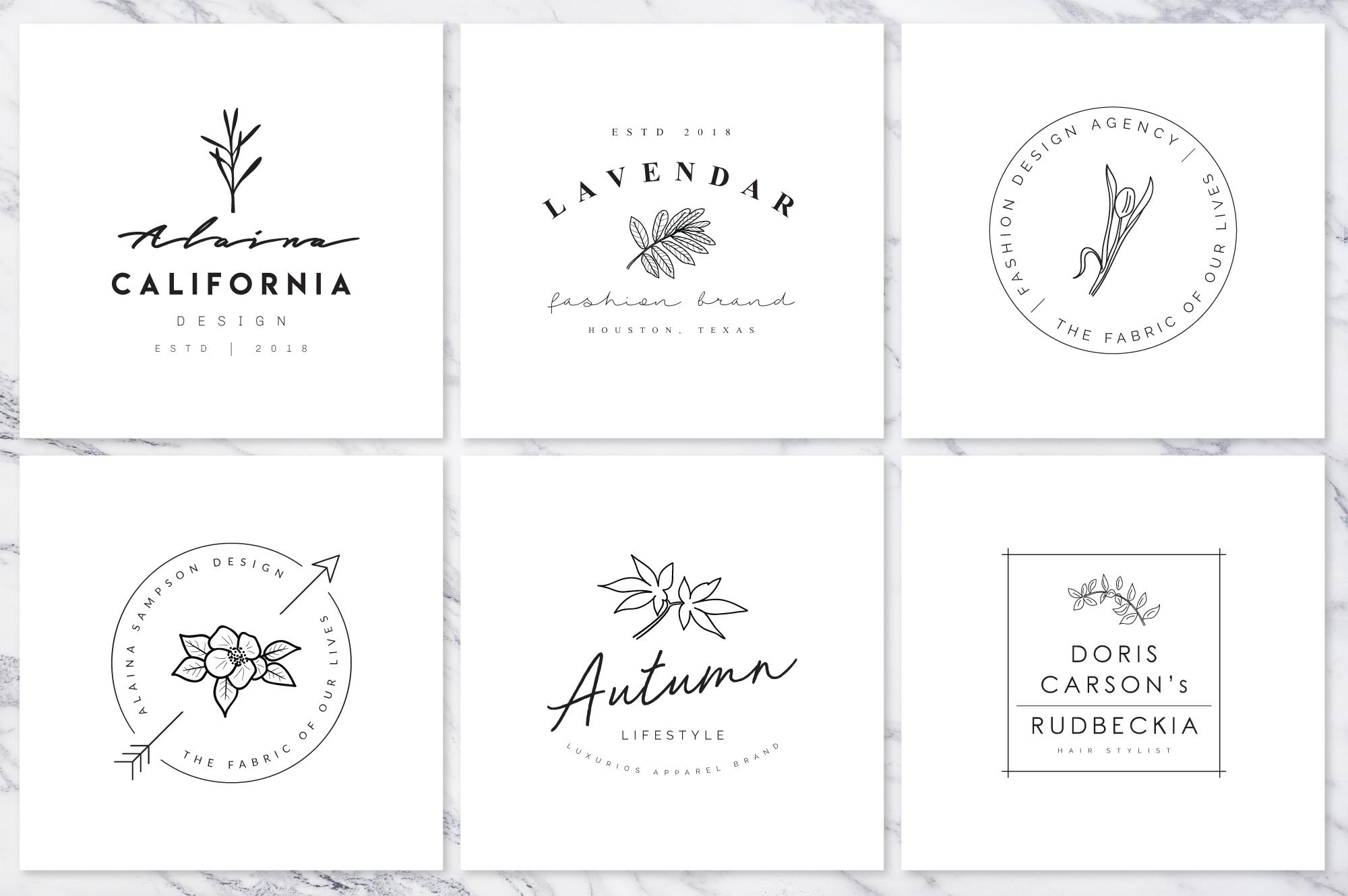 Feminine Branding Premade Logos V01 example image 6