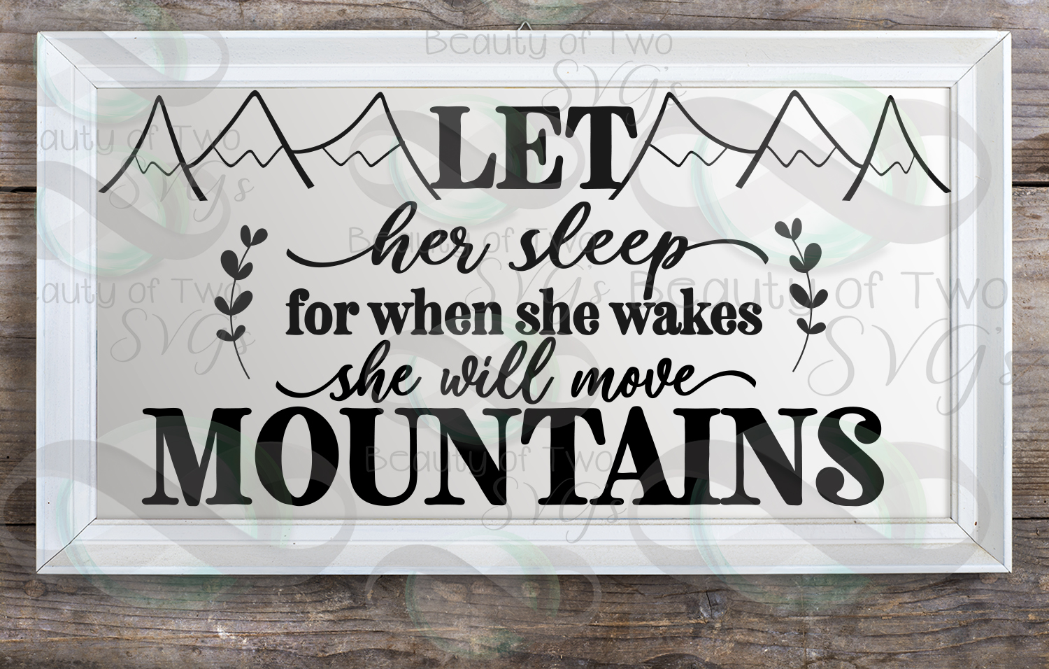 Let her sleep svg and png, nursery svg, baby girl svg example image 4