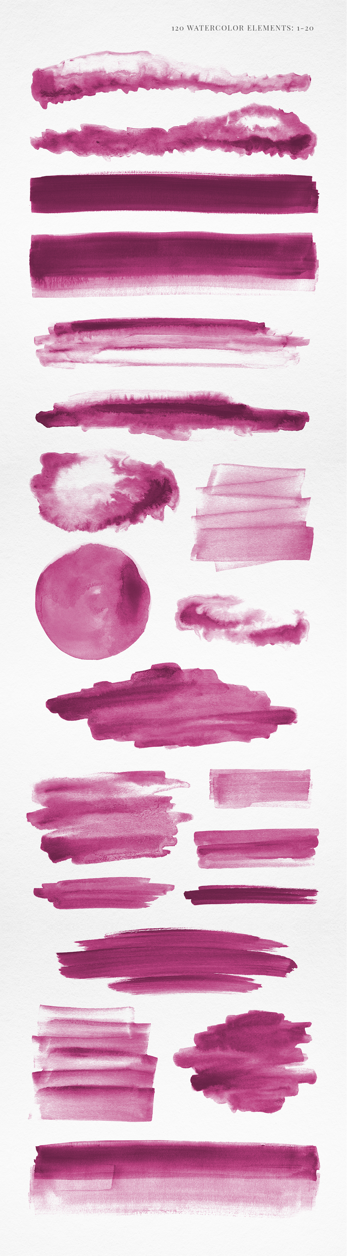 120 Pink Watercolor Texture Elements example image 2