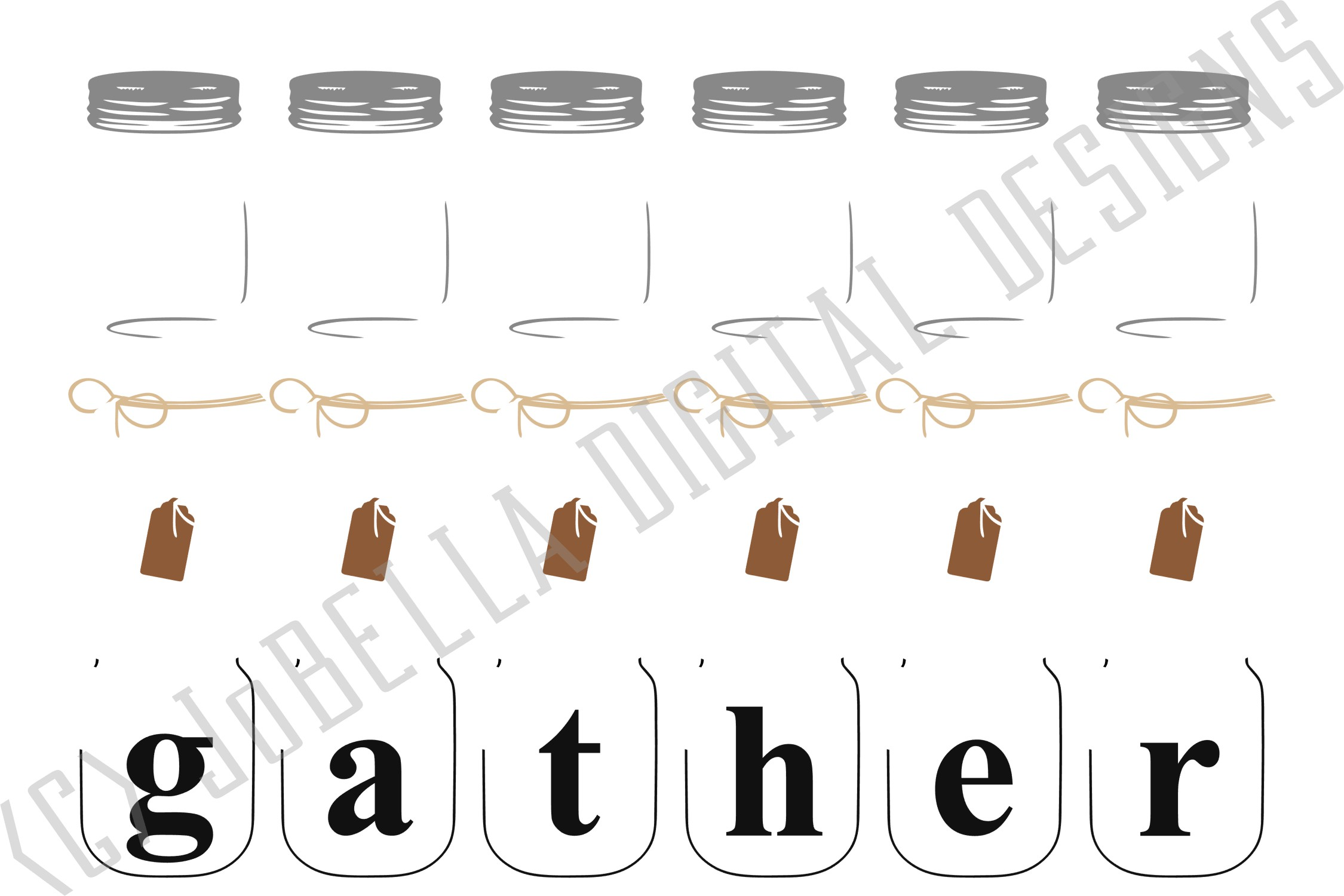 picture regarding Gather Printable named Mason Jar Obtain SVG, Sublimation PNG and Printable
